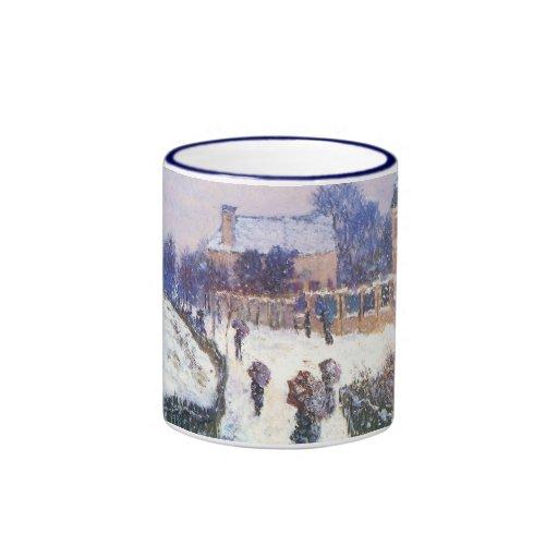 Boulevard Saint Denis Argenteuil by Claude Monet Ringer Coffee Mug