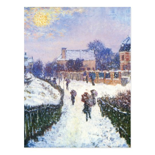 Boulevard Saint Denis Argenteuil by Claude Monet Postcard