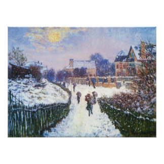 Boulevard Saint Denis Argenteuil by Claude Monet Poster