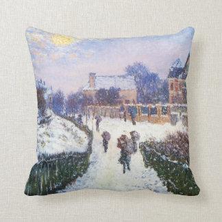 Boulevard Saint Denis Argenteuil by Claude Monet Throw Pillow