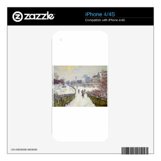 Boulevard Saint-Denis, Argenteuil, in Winter Decal For iPhone 4