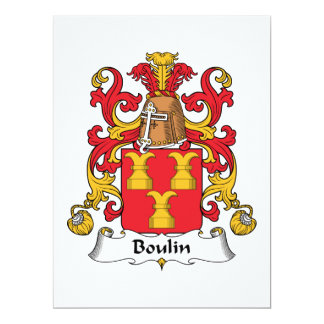 Boulin Family Crest Personalized Announcements