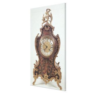 Boulle bracket clock by A.Brocot Delettrez Canvas Print