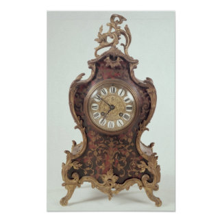 Boulle bracket clock by A.Brocot Delettrez Poster