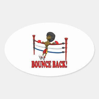 Bounce Back Oval Sticker