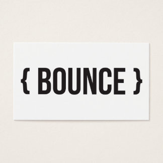 Bounce - Bracketed - Black and White Business Card