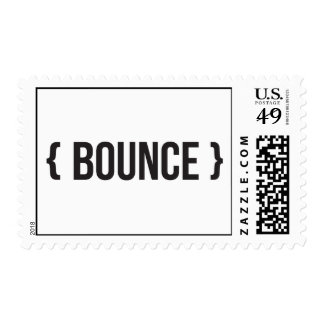 Bounce - Bracketed - Black and White Postage
