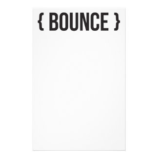 Bounce - Bracketed - Black and White Customized Stationery