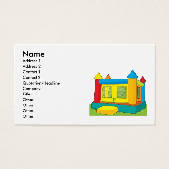 Bounce Castle Business Card