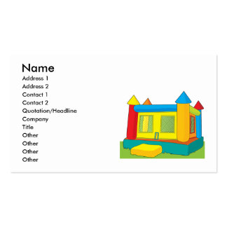 Bounce Castle Double-Sided Standard Business Cards (Pack Of 100)
