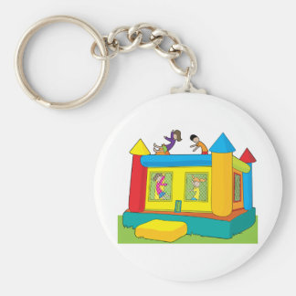 Bounce Castle Kids Basic Round Button Keychain