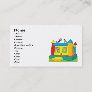 bounce castle kids business card - Kids Business Cards