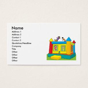 Kids business cards templates zazzle bounce castle kids business card colourmoves Gallery