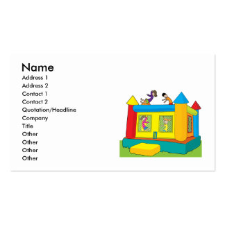 Bounce Castle Kids Double-Sided Standard Business Cards (Pack Of 100)