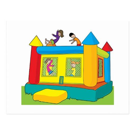 Bounce Castle Kids Post Card