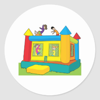 Bounce Castle Kids Classic Round Sticker