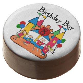 Bounce House 8th Birthday Dipped Oreos Chocolate Dipped Oreo