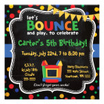 Bounce House and Inflatables Birthday Invitation Personalized Invite
