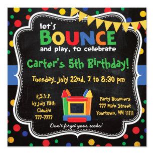 Bounce house birthday invitations zazzle bounce house and inflatables birthday invitation stopboris Gallery