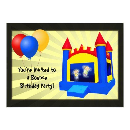 Bounce House Balloons Birthday Party Invitation | Zazzle