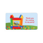 Bounce House Birthday Favor Tag Label