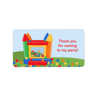 Bounce House Birthday Favor Tag Label Address Label