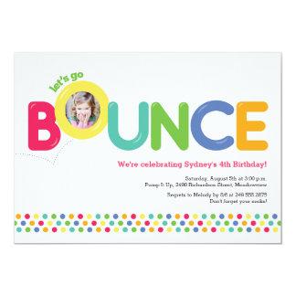 Bounce House Birthday Invitation Photo Card Multi Invitations