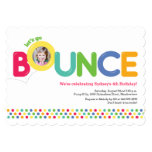 "Bounce House Birthday Invitation Photo Card Multi 5"" X 7"" Invitation Card"