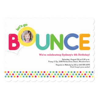 Bounce House Birthday Invitation Photo Card Multi