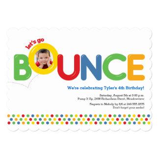 Bounce House Birthday Invitation Photo Card Primar