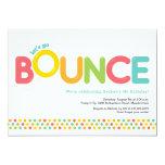 Bounce House Birthday Invitation Pink & Aqua Invitation