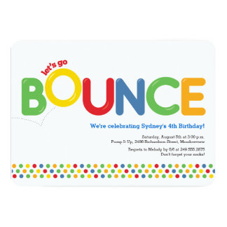 Bounce House Birthday Invitation Red & Blue