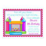 Bounce House Birthday Invitations- Girl Colors