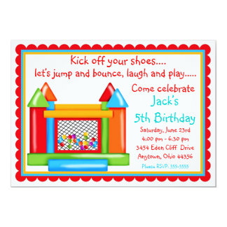 Bounce House Birthday Invitations- Primary Colors Card