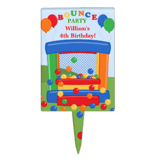 Bounce House Birthday Party Cake Topper