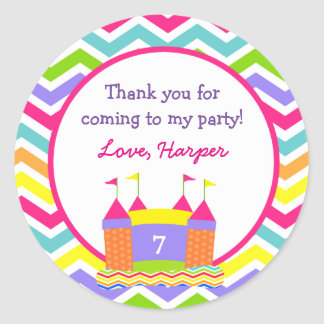 Bounce House Birthday Party Favor Stickers