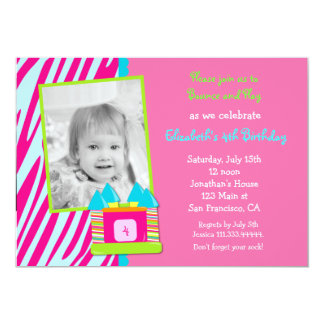 """Bounce House Birthday Party invitation 5"""" X 7"""" Invitation Card"""