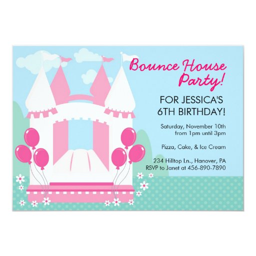 Bounce Party Invitation as best invitations design