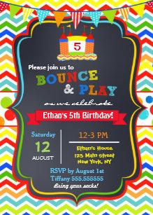 Jump party invitations zazzle bounce house birthday party invitations filmwisefo