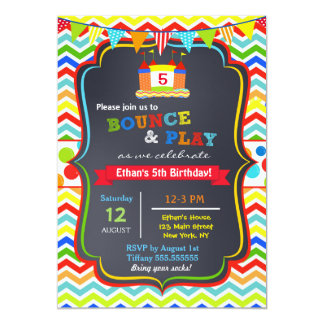 Bounce House Birthday Party Invitations