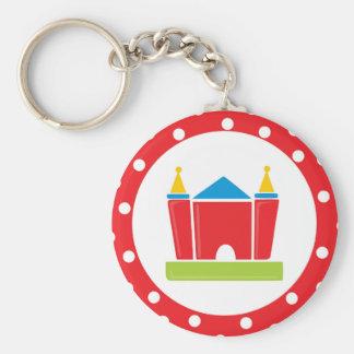 Bounce House Birthday Party Keychain