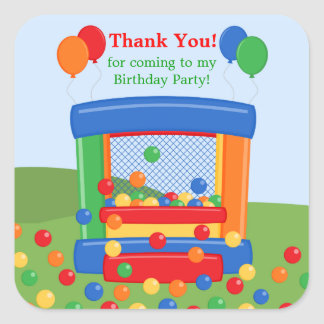 Bounce House Birthday Party Sticker