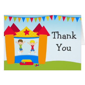 Bounce House Birthday Party Thank You Greeting Cards