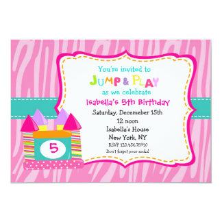 "Bounce House Bounce Castle Birthday Invitations 5"" X 7"" Invitation Card"