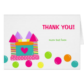 Bounce House Bounce Castle Thank you cards