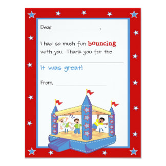 Bounce House Fill-in-the-Blank Thank You Card