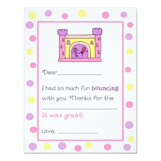 Bounce House Fill-in-the-Blank Thank You Cards