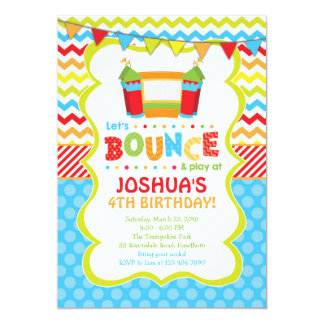 Bounce House Invitation / Bounce House Invite 13 Cm X 18 Cm Invitation Card