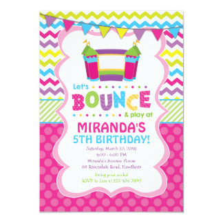Bounce House Invitation / Girl Bounce House Invite