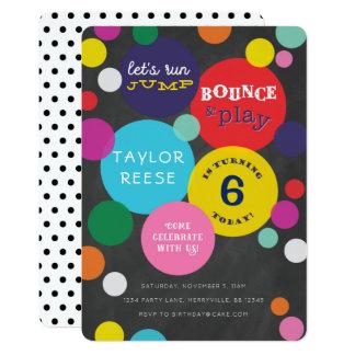 Bounce House Jump Birthday Invitation
